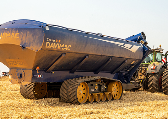 Vimcor tracks on 35T Davimac chaser bin